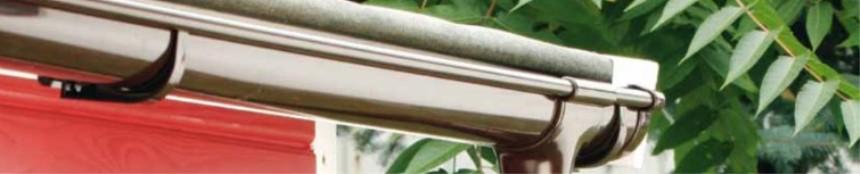 Halbrunde Dachrinne RG 75 grau