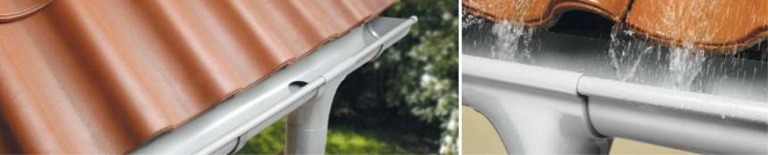 Halbrunde Dachrinne RG 100-125 grün