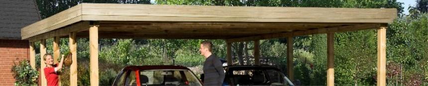 Weka Doppel-Carport (Holz)