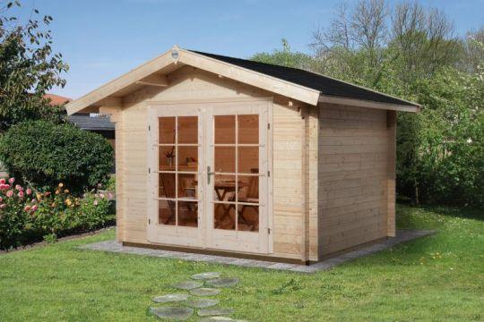 Weka Premium Gartenhaus Kronberg 1 300 X 300 Cm 45 Mm Vordach