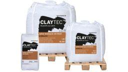 Claytec Lehm-Unterputz mit Stroh, trocken
