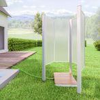 Breuer Garten-Dusche Fara-O, weiß, Kunstglas - 85x115x180 cm