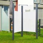 Breuer Garten-Dusche, Set Exo 2-seitig Intima, grau - 95x95x200 cm