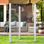 Breuer Garten-Dusche, Set Exo 2-seitig Klarglas, weiß - 95x95x200 cm