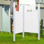 Breuer Garten-Dusche, Set Exo 2-seitig Intima, weiß - 95x95x200 cm