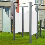 Breuer Garten-Dusche, Set Exo 3-seitig Intima, grau - 95x95x200 cm