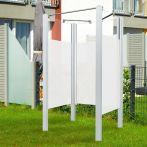 Breuer Garten-Dusche, Set Exo 3-seitig Intima, weiß - 95x95x200 cm
