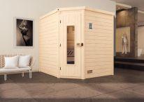 Weka MH-Sauna TURKU 2 HT, 195 x 195 x 203 cm, naturbelassen