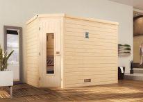 Weka MH-Sauna TURKU 3 HT,  245 x 195 x 203 cm, naturbelassen