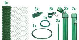 Maschendraht-Zaun-Set grün Pfosten zum Einbetonieren