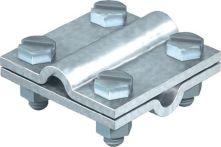 NW Kreuzverbinder nach DIN EN 62561-1 rund / rund 8 - 10 mm feuerverzinkt Stahl (1000139033)
