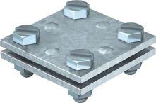NW Kreuzverbinder nach DIN EN 62561-1 flach / flach 30 mm feuerverzinkt Stahl (1000139034)