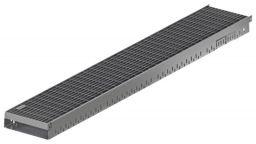 ACO Greenline 3.0 Flachdachrinne verzinkt Baubreite 10 cm mit Maschenrost MW 30x10 mm