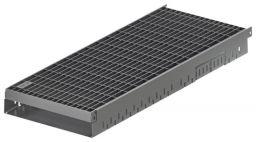 ACO Greenline 3.0 Flachdachrinne verzinkt Baubreite 20 cm mit Maschenrost MW 30x10 mm