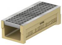 ACO Self 200 Rinne NW 150 mit Rost verzinkt MW 33x33 mm