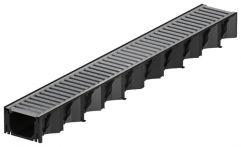 ACO Self Hexaline 2.0 Entwässerungsrinne mit Stegrost aus Stahl 1 m lang