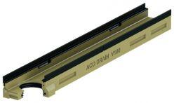 ACO DRAIN Multiline V100 Flachrinne Belastungsklasse E 600 - 1 m lang