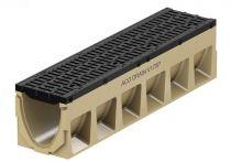ACO PowerDrain V 175/200 P Rinnenkörper - 1 m lang ohne Sohlengefälle