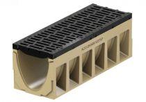 ACO PowerDrain V 275/300 P Rinnenkörper - 1 m lang ohne Sohlengefälle