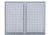 Altvater Aluminium-Doppel-Müllbox 120L, Weißaluminium