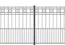 Metallzaun-Komplett-Set TURIN anthrazitgrau (RAL7016)
