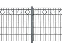 Metallzaun-Komplett-Set VALENCIA anthrazitgrau (RAL7016)