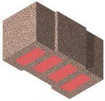 Bisomark Außenwandstein SFK 1,6 - RD 0,35 - Dicke: 49 cm (16 DF) m. org. Wärmedämmung