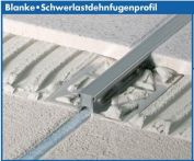 Blanke Schwerlastdehnfugenprofil Edelstahl 3 mm 2,5 m Silikon grau (355-280-03025)