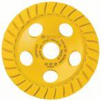 Bosch Diamanttopfscheibe Best for Universal Turbo, 125 x 22,23 x 5 mm, gelb
