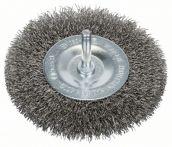 Bosch Scheibenbürste, Edelstahl, gewellter Draht, 100 mm, 0,3 mm, 10 mm, 4500 U/ min