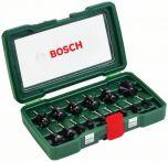 Bosch HM-Fräser-Set, 15-teilig, mit 1/4 Schaft Art.Nr.:2607019468