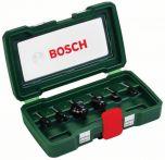 Bosch HM-Fräser-Set, 6-teilig, mit 1/4 Schaft Art.Nr.:2607019462