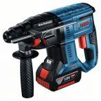 Bosch Akku-Bohrhammer mit SDS plus GBH 18V-21: 2x Akku 4.0Ah, Schnellladegerät, L-BOXX