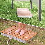 Breuer Fontana Bodendusche Holz Gartendusche eckig - 700x550 mm