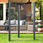 Breuer Garten-Dusche, Set Exo 2-seitig Klarglas, grau - 95x95x200 cm