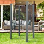 Breuer Garten-Dusche, Set Exo 3-seitig Klarglas, grau - 95x95x200 cm