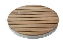 Breuer Fontana Bodendusche Holz Gartendusche rund - Durchmesser 704 mm