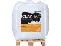Claytec Lehm-Oberputz grob, Stroh trocken