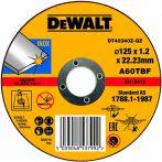 DeWalt Trennscheibe Edelstahl flach 125x1.2mm DT42340Z-QZ