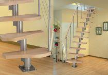 Dolle Systemtreppe Basel Buche Multiplex (Standardpaket) Art.Nr.: 607711