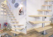 Dolle Systemtreppe Dublin Birke versiegelt - geradelaufend (11 Stufen) 65 cm breit