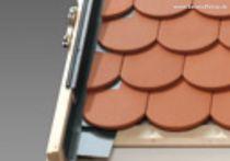 VELUX Eindeckrahmen Biberschwanz Doppeldeckung (Aluminium), Typ: EDB UK10 0000