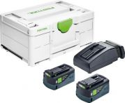 Festool Energie-Set SYS3 ENG 18V 2x5,2/TCL6, EAN:4014549381540