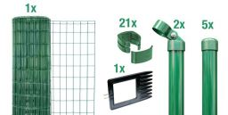 Maschendraht-Zaun-Set Fix-Clip Pro® grün Pfosten zum Einbetonieren