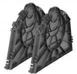 GARANTIA Endplatte für Sicker-Tunnel 300 Liter Set (2 Stück)