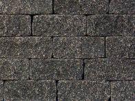 Gerwing Mauerstein GerloCastell UnoStone - anthrazit, gerumpelt, 3-seitig gespalten, 30x16,5x12,5 cm