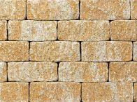 Gerwing Mauerstein GerloCastell UnoStone - beige-hell, gerumpelt, 3-seitig gespalten, 30x16,5x12,5 cm