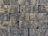 Gerwing Mauerstein GerloCastell UnoStone - grau-schwarz, gerumpelt, 3-seitig gespalten, 30x16,5x12,5 cm