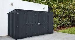 Globel Mülltonnenbox Easy mit Klappdeckel für 3 Tonnen 236x101 cm