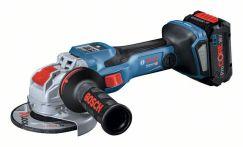 Bosch Akku-Winkelschleifer BITURBO mit X-LOCK GWX 18V-15 SC, 2 x Akku, L-BOXX Art.Nr.: 06019H6501